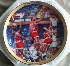 """Michael Jordan 90s Collectors Plate w/COA Upper Deck """"1986 Playoffs"""""""