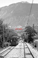 PHOTO  SWITZERLAND TRAIN 1984 SMC MONTANA-CRANS LOWER LOOP FUNICULAR