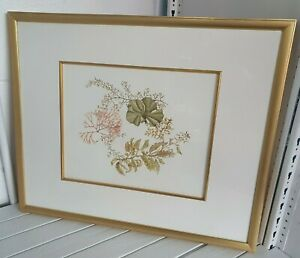 A. Sanders original botanical watercolour in 49 x 59 cm gilt frame I3O95