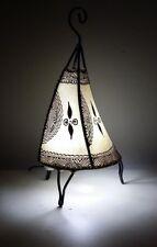 Moroccan Henna Lamp- Round base C shape 38 CM cream