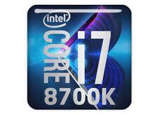 "Intel Core i7 8700K 1""x1"" Chrome Effect Domed Case Badge / Sticker Logo"