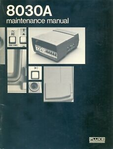 FLUKE 8030A Multimeter Operation and Maintenance Manual