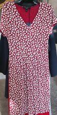 NWT Weekend MaxMara 275$ M IT  Red/White Stretch Midi Short Sleeve Dress