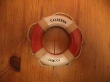 P & O Canberra Liner Life Ring Souvenir - RARE MEMORABILIA -