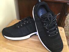 Orthofeet Men's   Lava Sneaker Black Size 11 Medium
