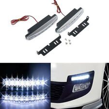 2pcs 8 LED Daytime Running Lights Car Driving DRL Fog Lamp Light Bright White