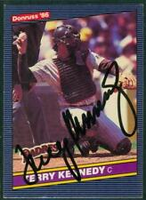 Original Autograph of Terry Kennedy of the San Diego Padres on a 1986 Donruss