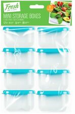 8pc 4cm x 6.5cm Mini Storage Boxes Container Plastic Kitchen Small Food Pot Baby