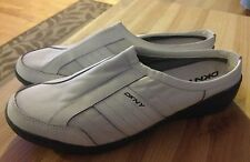 DKNY white  SLIP ON ATHLETIC MULES CLOGS SNEAKERS SHOES WOMENS SZ 9