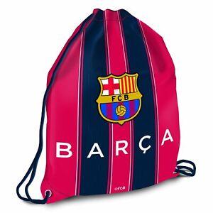 FC Barcelona Gymbag Nylon Drawstring Swimming Kit Bag Red School PE Bag Striped