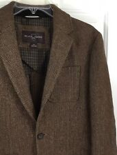 Black & Brown 1826 Men's Brown Tweed Sport Coat Jacket with Elbow Patches Size S