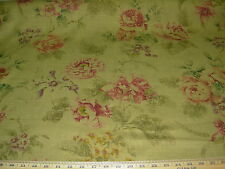 "~12 YDS~COVINGTON~FLORAL ""ROSSELINI""~COTTON UPHOLSTERY FABRIC FOR LESS~"