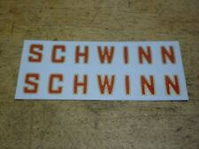 Schwinn Lightweight Roadbike Red With Gold Outline Bicycle Down Tube Decal Set