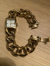 MARC JACOBS GOLD TONE CHAIN WATCH BRACELET CHUNKY VINTAGE STYLE LADIES