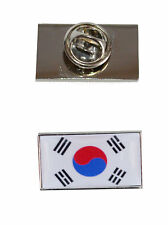 with free organza pouch South Korea Flag Tie Pin