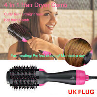4 in 1 One Step Hair Dryer Style Comb Volumizer Brush Straightener Curler Styler