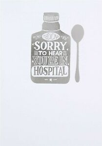 "Hallmark Get well Soon Card "" Sorry To Hear You're In Hospital"""