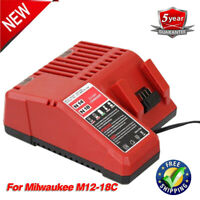 For New Milwaukee M12 M18 18V Battery Charger 48-59-1812 Lithium Ion 12-18 Volt