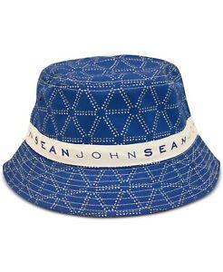 Sean John Men's Logo Graphic Bucket Hat SJMH0010MC Blue