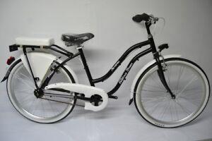 Bci Cruiser chopper custom bike 26 in alluminio nera e bianca 7v personalizzabil
