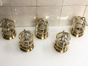 NAUTICAL MARINE NEW MOUNT BRASS VINTAGE STYLE PASSAGEWAY RUNNING SHIP LIGHT 5 PS