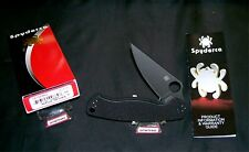"""Spyderco C81GPBK2 Knife """"Paramilitary 2BLK"""" USA Black 4-3/4"""" W/Packaging, Papers"""