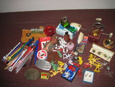 Junk Drawer lot buckles stirrers lighters perfume cowboys Marlboro jewelry bell