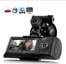 "HD GPS Dual Lens Vehicle Car Camera Video DVR Dash Cam G-Sensor 2.7"" LCD Screen"