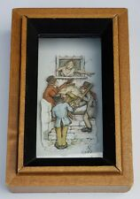 ANTON PIECK BAND 3D ART framed in Wood Shadow Box 1960s-70s