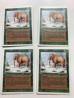 4x Vintage Playset WAR MAMMOTH  MTG Revised Magic the Gathering
