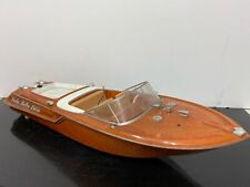 Dickie Spielzeug Racing Rc Remote Control Plastic Boat - For Parts Or Repair