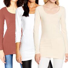 Vero Moda Langarm Basic Damen O-Neck Shirt Top Longsleeve Stretch Leicht LS tee