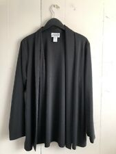 Women's Pendleton Black Drape Blazer Collar Cardigan Jacket Size Large