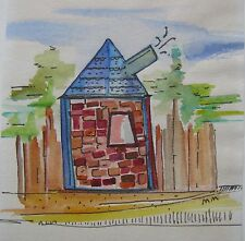 "MANDY MELZER AUSTRALIAN SMALL WC INK ""THE BRICK HOUSE"" C 2000"