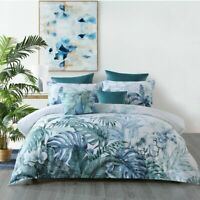 Kailua Quilt Cover Set Teal by Bianca | Tranquil blue and teal tones