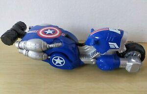 Playskool Heroes Marvel Super Heroes Adventures Captain America Motorcycle Hasbr