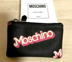 "Moschino x Barbie Collaboration Pouch mini bag Black Pink PVC  Size / W6.3""×D4"""