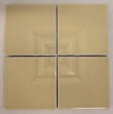 Vintage Gladding McBean Modern Tile Set/Beige=4 Squares
