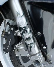 SKULL DECAL GRAPHIC for SPORTBIKE FORKS