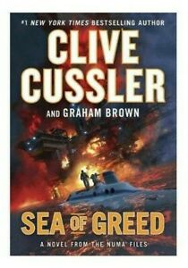 Sea of Greed by Clive Cussler Graham Brown The NUMA Files Series Book Novel