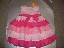 NEW NWT Gymboree Girls Birthday Ruffled Bow Dress 18-24 Months Pink Toddler