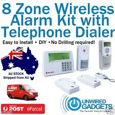 NEW WIRELESS HOME ALARM SECURITY SYSTEM WITH TELEPHONE DIAL OUT PROTECTION