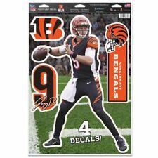 "JOE BURROW CINCINNATI BENGALS MULTI-USE DECALS 11""X17"" LIKE A FATHEAD NFL"