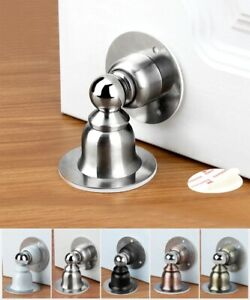 Stainless Steel Magnetic Door Stopper Nail-Free Anti-Collision Doorstops Holders