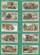 MILITARY -  100  SETS OF 50 WILLS ' MILITARY  MOTORS  /  WWI  ' CARDS - REPRINTS