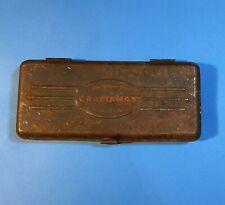 """Vintage Craftsman 1/4"""" Drive Ratchet Socket Set =V= Series *Tin Case Only*"""