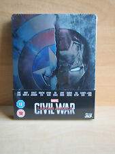 Brand New Sealed Marvels Captain America Civil War 3D + 2D Steelbook UK Edition