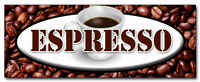 "24"" ESPRESSO DECAL sticker coffee shop cafe beans retail storefront marketing"