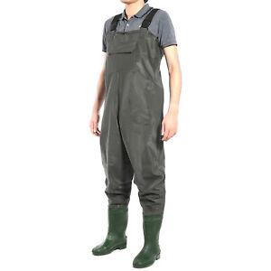 Fishing Chest Waders Wellies PVC 100% Waterproof Carp Fly Coarse Muck Nylon