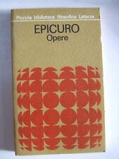 Epicuro Opere . Piccola biblioteca filosofica . 1975
